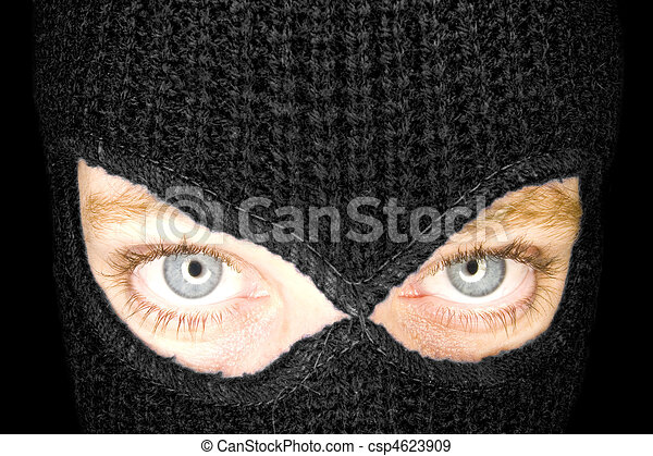 A stock photograph of a blindfolded - csp4623909