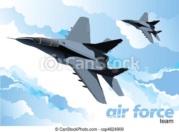Vector combat aircraft - csp4624909