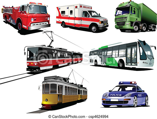 Set of municipal transport images. - csp4624994