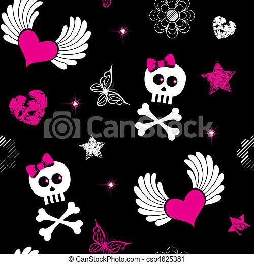 Seamless from emo symbols - csp4625381