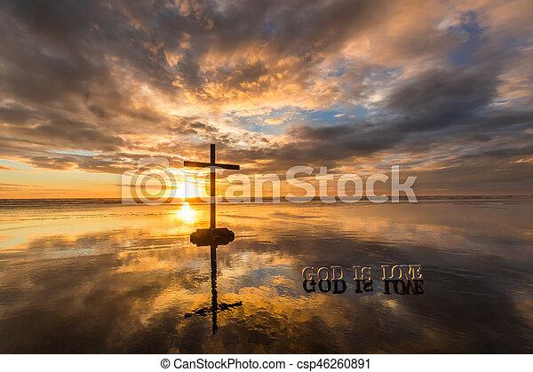 God is Love Beach - csp46260891