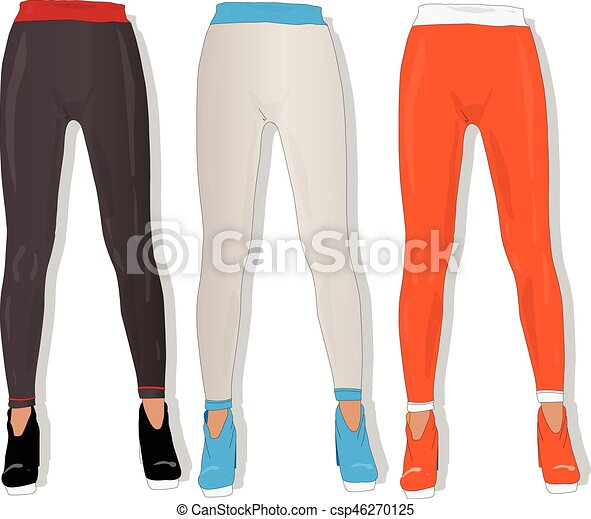 Vector Illustration of Woman leggings vector isolated ...