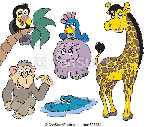 Set of African animals 2 - csp4627381