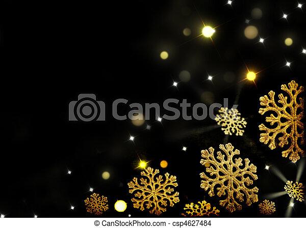 Stock foto von schneeflocken gold schwarz for Foto hintergrund weihnachten