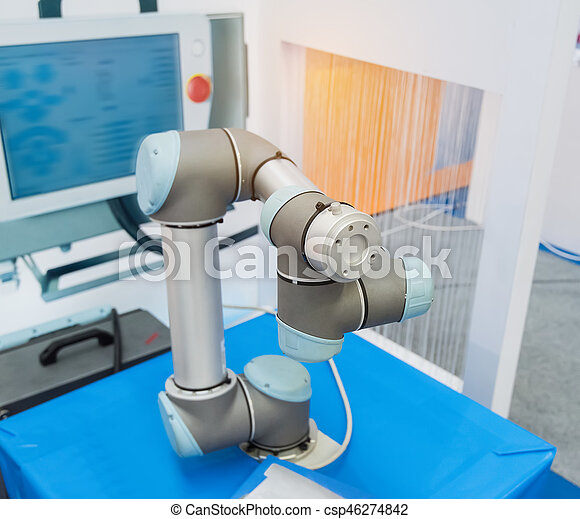 Robotic arm at production line in factory - csp46274842