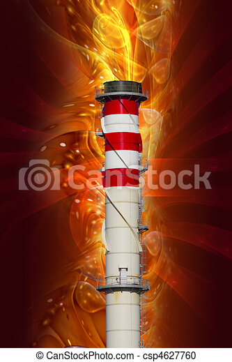 Chimney, industrial power, conceptual design - csp4627760