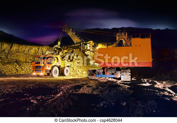 Big yellow mining truck - csp4628044
