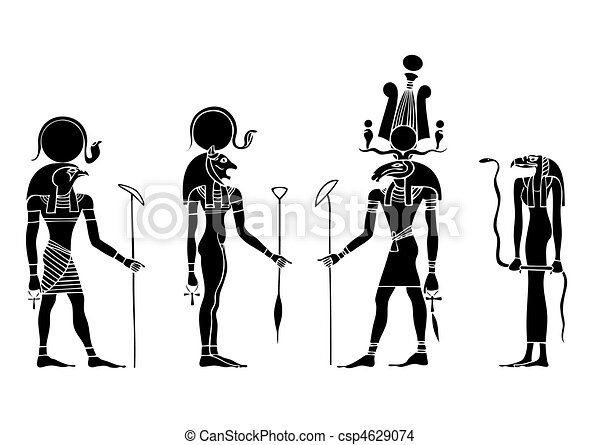 vector Gods of ancient Egypt - csp4629074