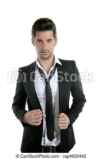 Handsome young man suit casual tie suit - csp4630442