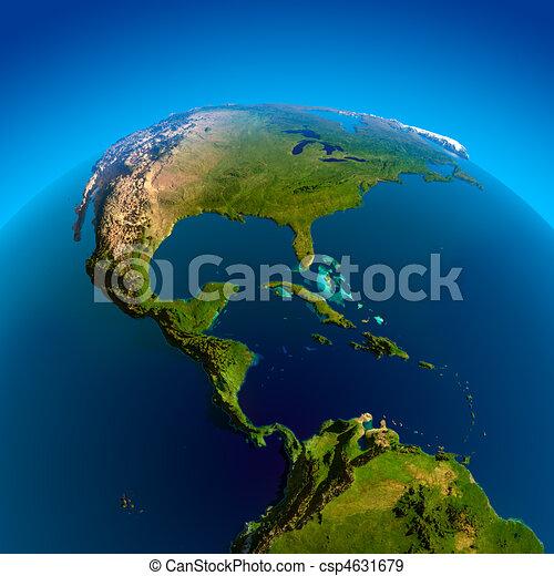 Caribbean, Pacific and Atlantic Oceans - csp4631679
