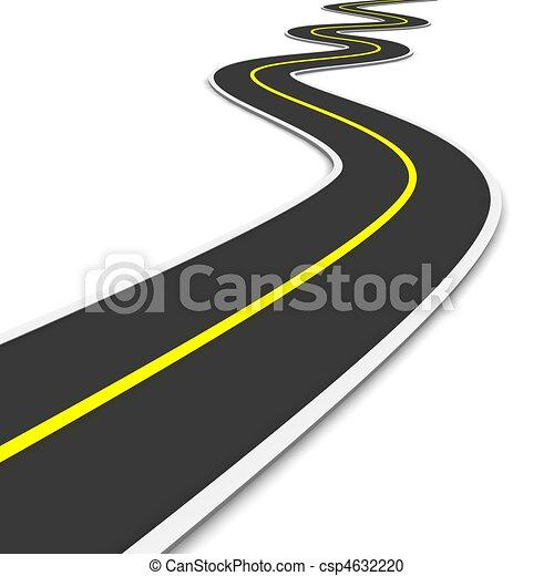 Twisty road. 3d rendered illustration. - csp4632220