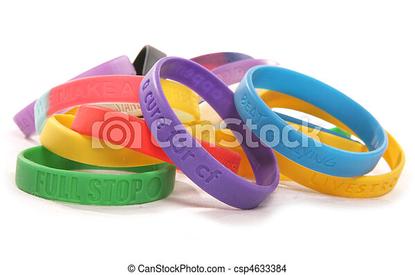 Various charity wristbands cutout - csp4633384