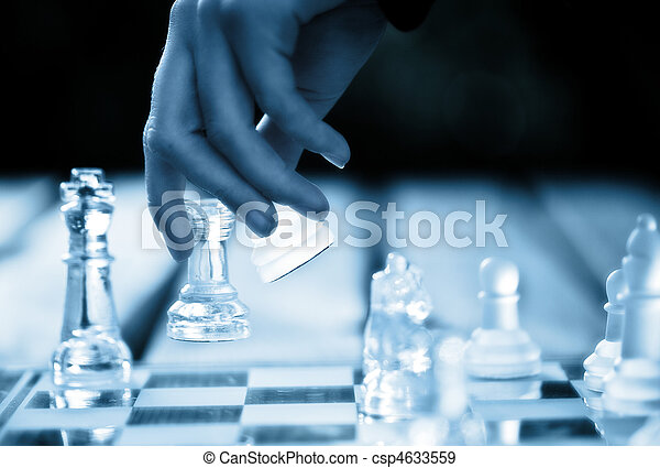 hand making a winning chess move - csp4633559