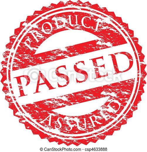 passed logo - csp4633888