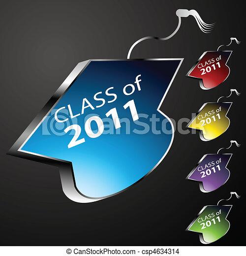 Graduating Class Cap Buttons - csp4634314