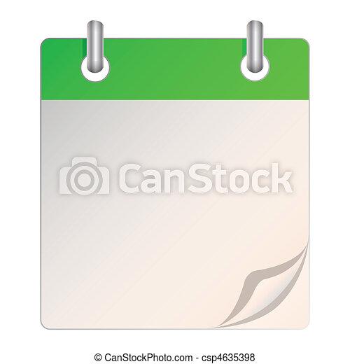 A blank calendar - csp4635398