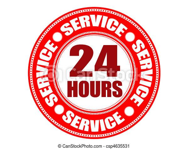 Label 24 hour service - csp4635531
