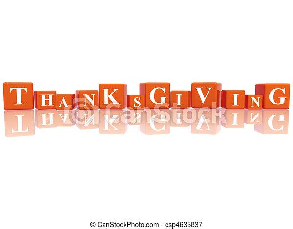 Thanksgiving in 3d cubes - csp4635837