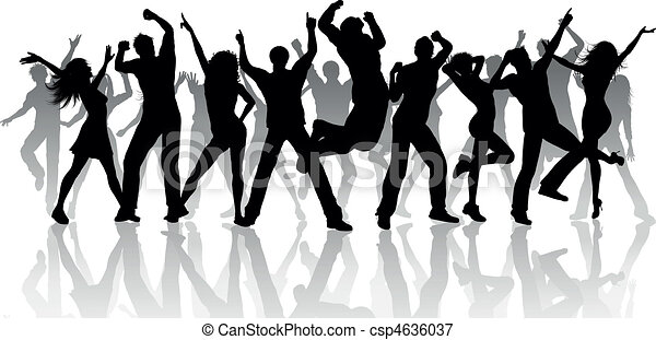 Party People Silhouette Vector Free Party People Silhouette of a