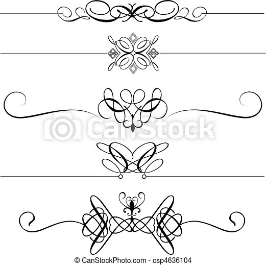Decorative page dividers - csp4636104