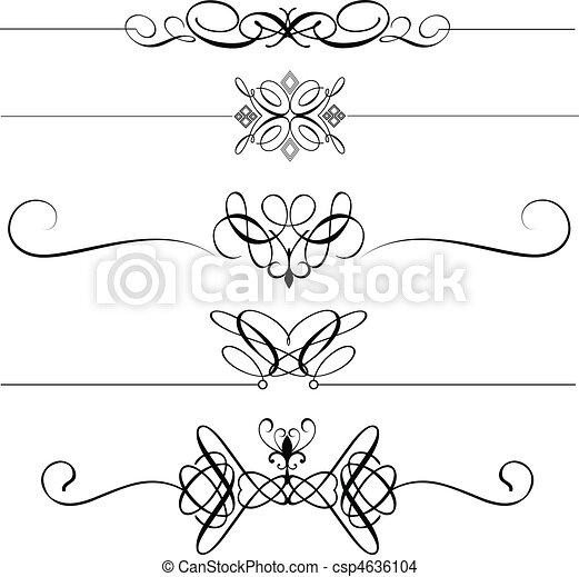 eps vektor von dekorativ teiler seite sammlung von dekorativ seite csp4636104. Black Bedroom Furniture Sets. Home Design Ideas