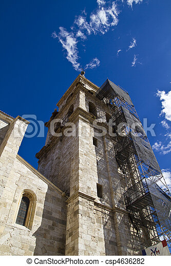 Catedral de Alcala de Henares, in rehabilitation - csp4636282
