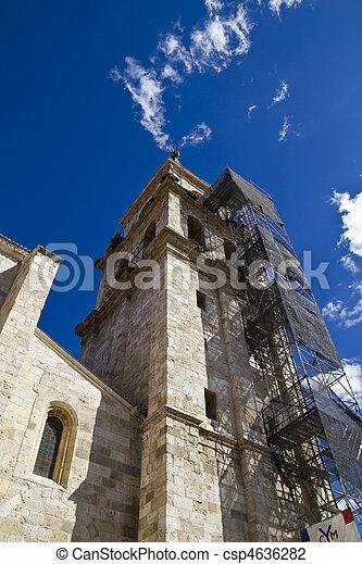 Catedral de Alcala de Henares, in rehabilitation - csp4636282