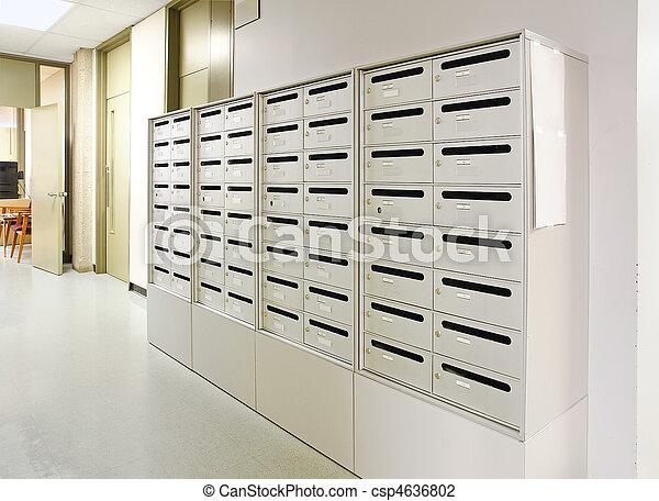 Mailbox in hallway - csp4636802
