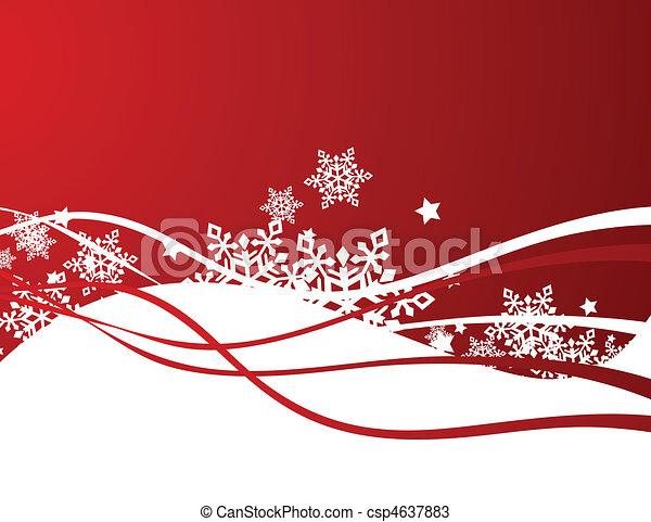 Snowflakes design - csp4637883