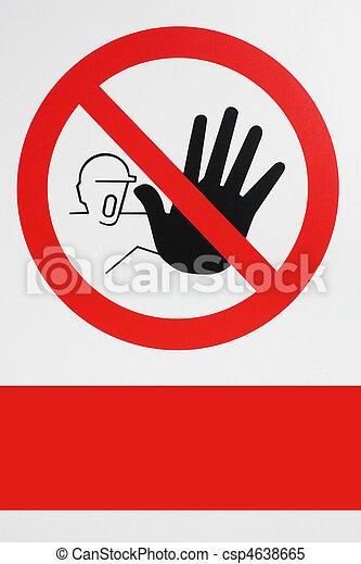 Prohibited. No pass - csp4638665