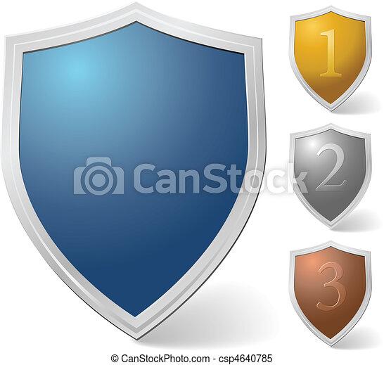Set of vector shields - csp4640785