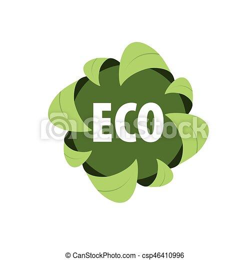 logo vector eco - csp46410996