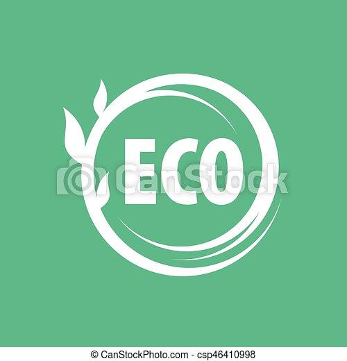 logo vector eco - csp46410998