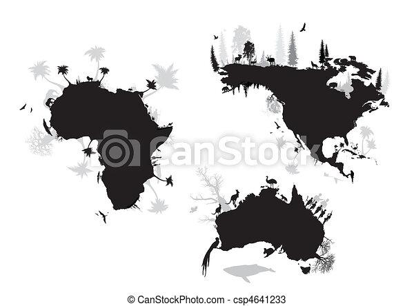africa, north america, australia  - csp4641233