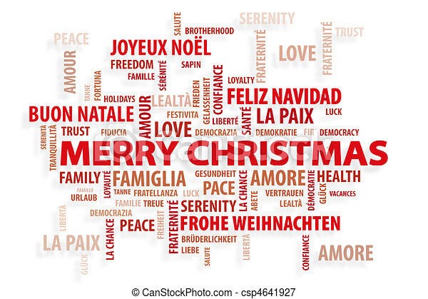 Stock Illustrations of Christmas Magic Words Christmas card – Words for Christmas Card