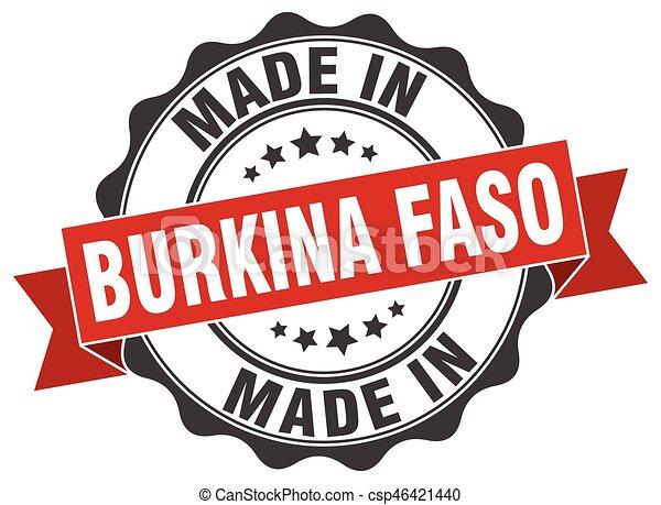 made in Burkina Faso round seal - csp46421440