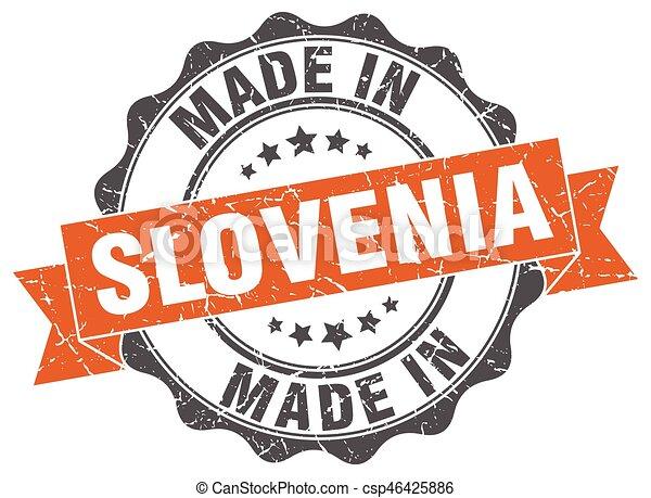 made in Slovenia round seal - csp46425886