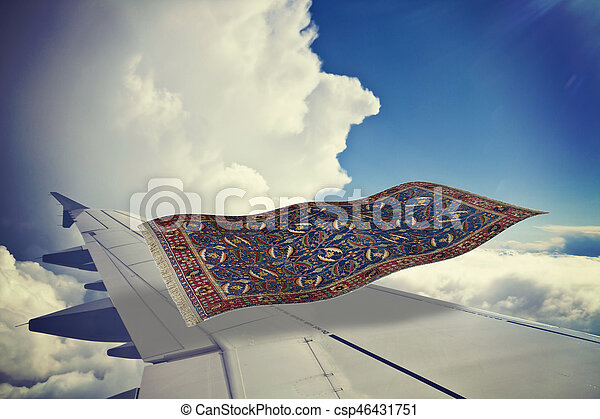 Flyng carpet over a plane - csp46431751