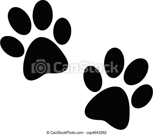 Black paw print - csp4643262