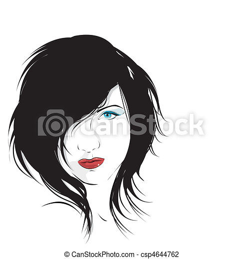 glamour girl on a white background  - csp4644762