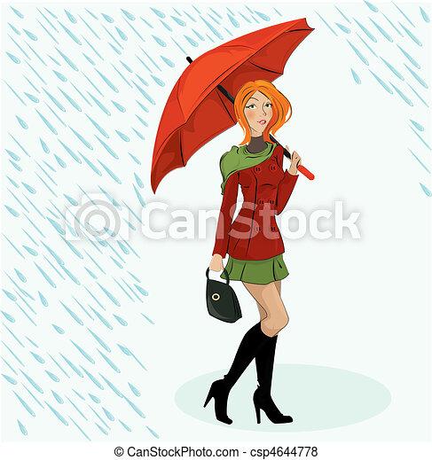 the girl wit umbrella - csp4644778