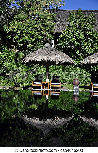 Pool at a resort - csp4645208