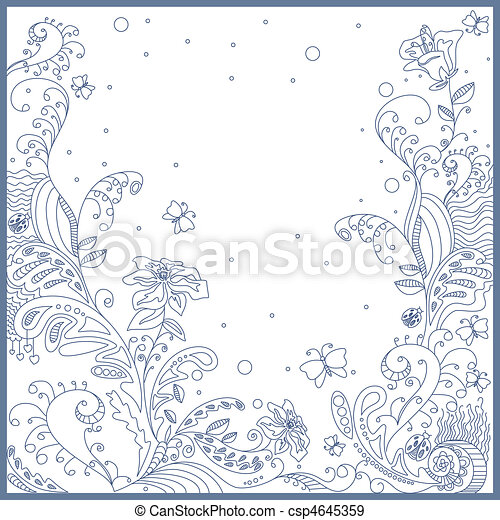 lovely greeting card - csp4645359