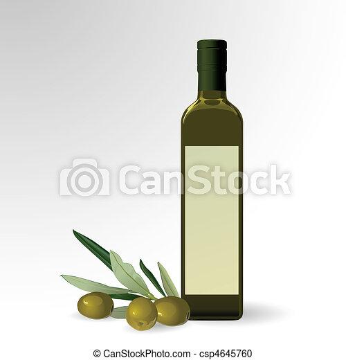 Olive oil bottle - csp4645760