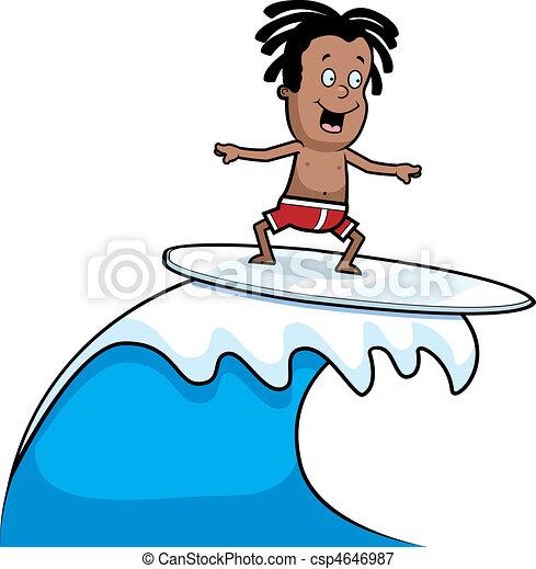 Child Surfing - csp4646987