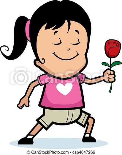 Child Flower clip art vector Happy Child Clipart