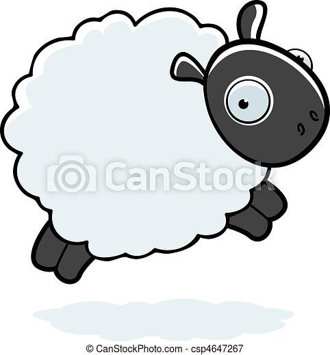 Illustrations vectoris es de mouton sauter a dessin - Mouton dessin anime ...