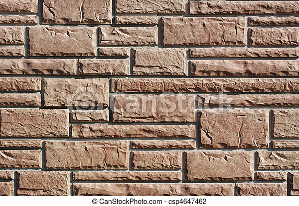 azulejo, parede, pedra, imitação - csp4647462