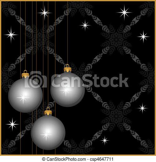New Year\'s tinsel. - csp4647711