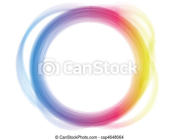 Rainbow Circle Border Brush Effect. - csp4648064